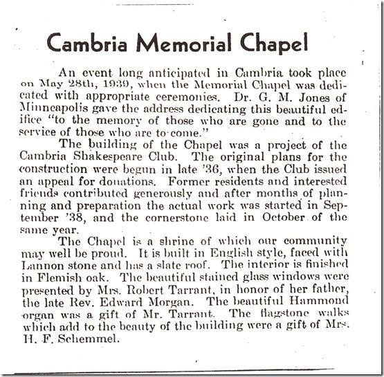 Cambria Memorial Chapel